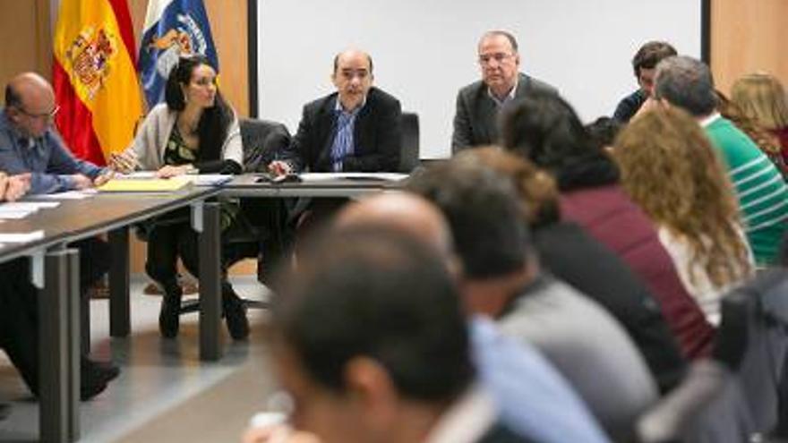 Un momento de la reunión mesa sectorial  celebrada este miércoles. Foto: Gobierno de Canarias.