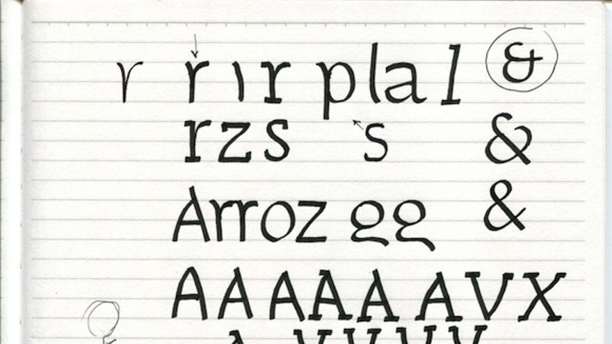 Antes de dibujar hay que apuntar sobre un papel la descripción de los atributos de la tipografía
