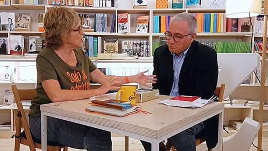 Xavier Sardá fue el invitado literario de Mercedes Milá en 'Convénzeme'