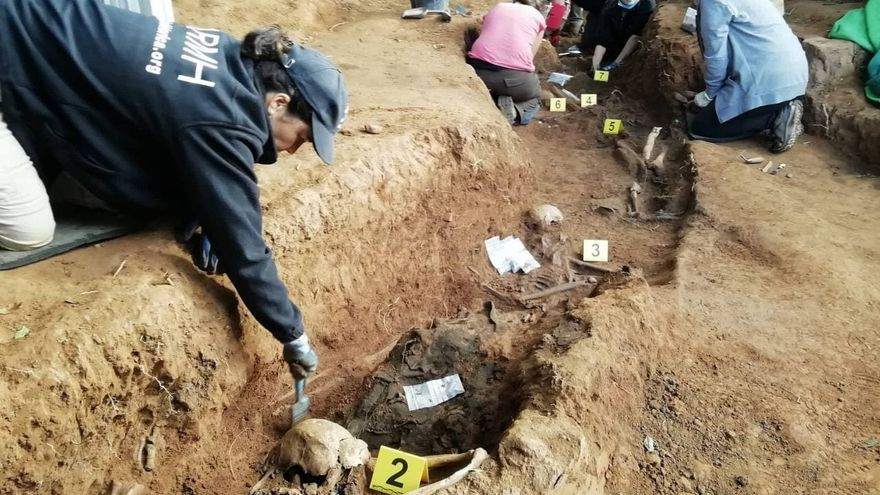 A golden dollar among those shot and buried under pigs