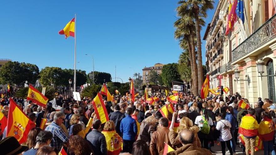 Manifestación de Vox Murcia este domingo