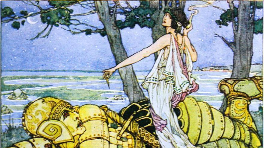 Medea y Talos en 'Historias de dioses y héroes' (1920), de Thomas Bulfinch