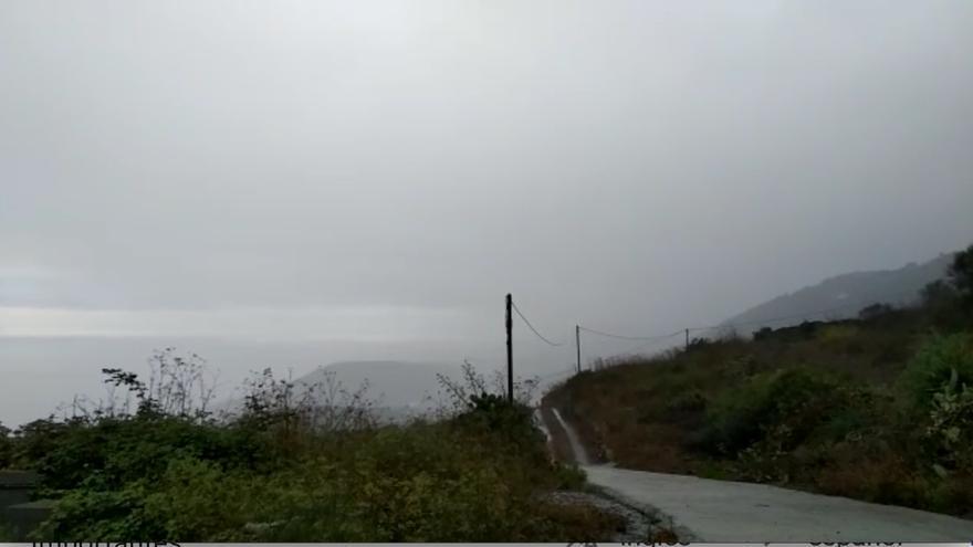 Zona de Barlovento empapada por las lluvias registradas en este lunes.