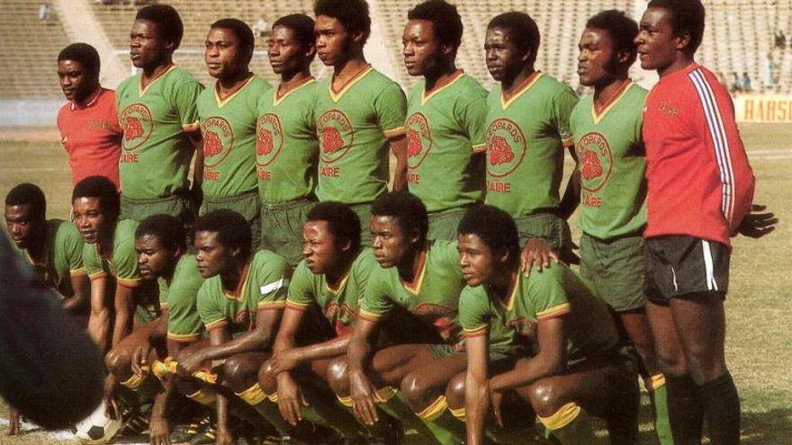 La selección de Zaire en 1974 en una imagen de archivo.