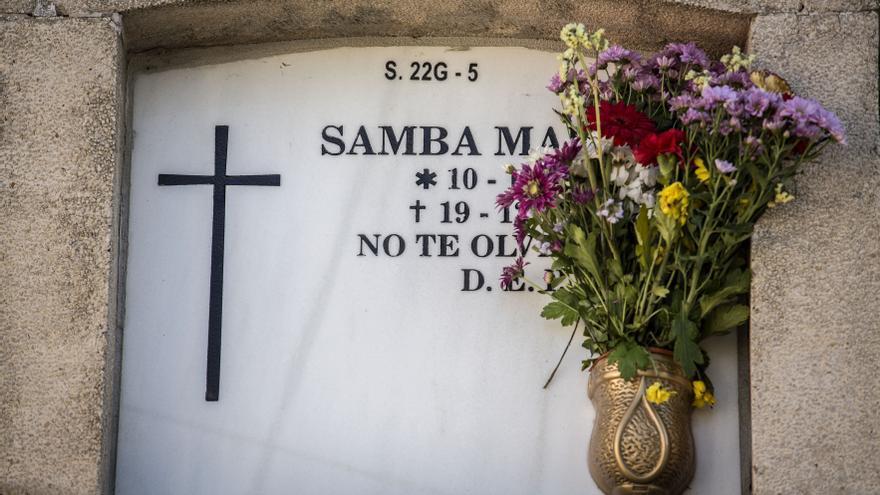 Tumba de Samba Martine, en el Cementerio Sur de Madrid