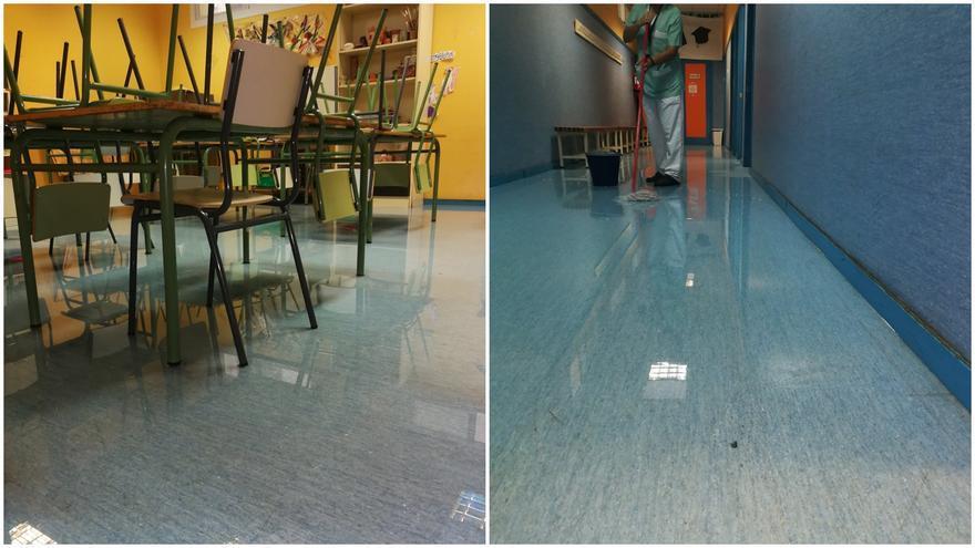 Inundaciones en el gimnasio y libros empapados en el colegio San Cristóbal