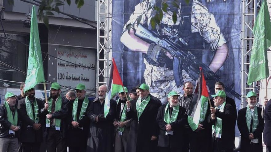 Hamás celebra con una multitudinaria concentración su XXIX aniversario
