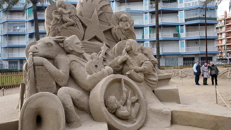 El pesebre de arena, el atractivo turístico de Vila-seca en invierno
