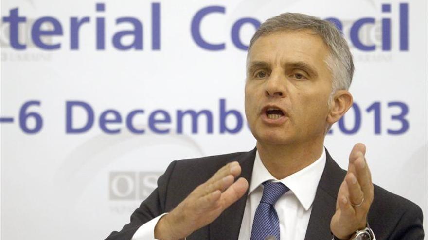 El liberal Burkhalter asume la presidencia de la Confederación Helvética