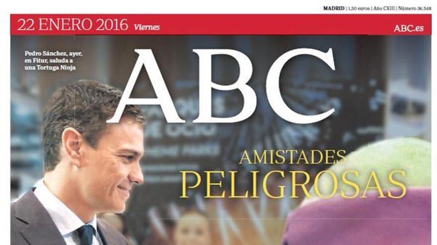 Portada de ABC con Donatello y Sánchez