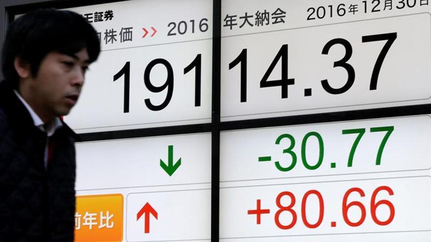 """Gracias al """"efecto Trump"""", el Nikkei cierra en positivo un año turbulento"""