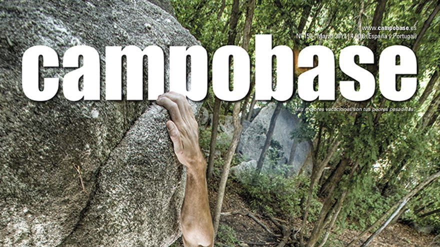Chris Sharma haciendo bloque en Little Cottonwood Canyon (USA).
