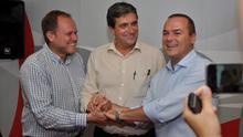 José Eduardo Ramírez, Javier Doreste y Augusto Hidalgo (PRENSA PSOE)