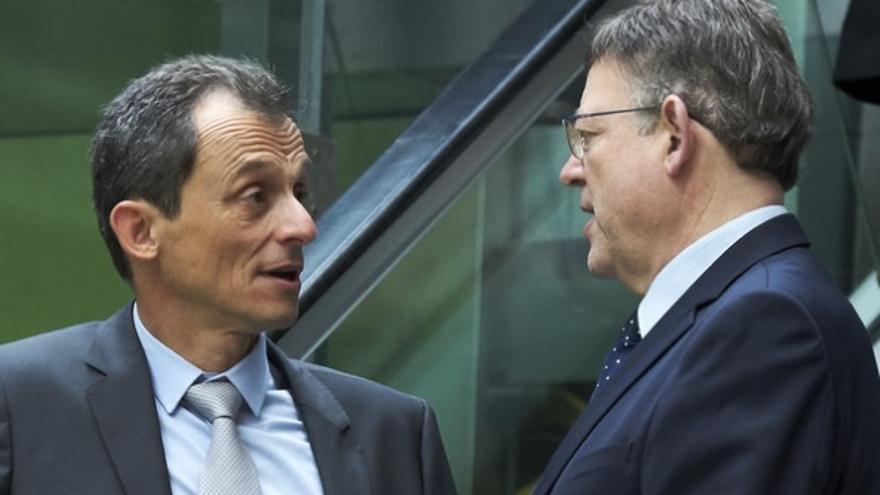 El ministro de Ciencia, Pedro Duque, y el president de la Generalitat, Ximo Puig
