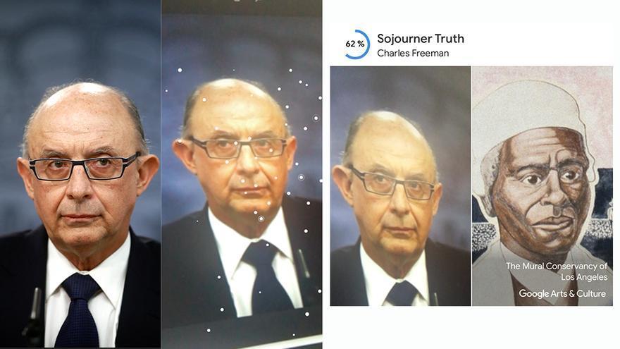 Una imagen de archivo del exministro de Hacienda, Cristóbal Montoro, expuesto al reconocimiento facial de Google Art & Culture.