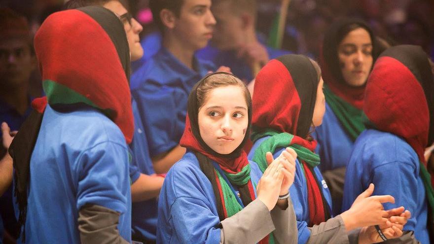 El equipo afgano en el concurso First Global, celebrado en julio en Washington DC.