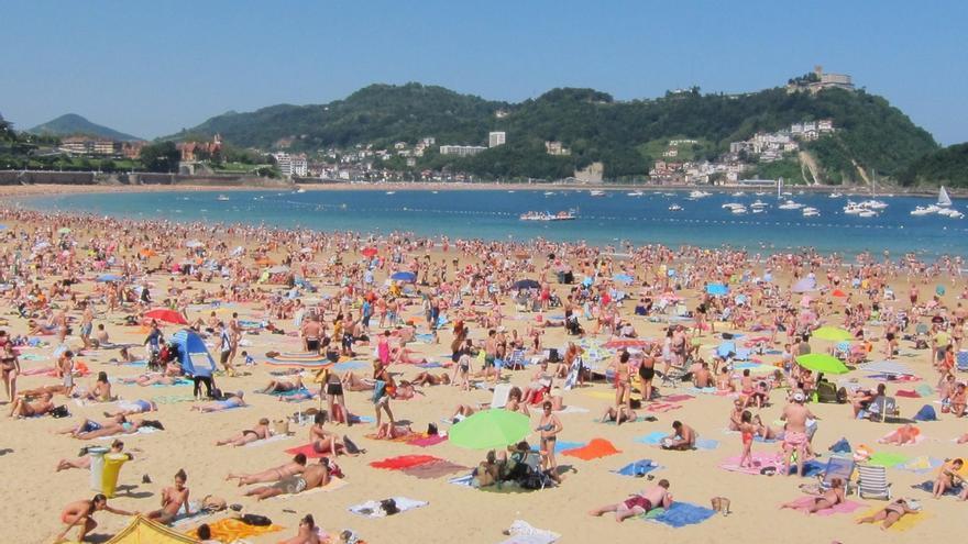 Registradas 7.140 asistencias en las playas de Gipuzkoa en agosto, 41 más que el año anterior