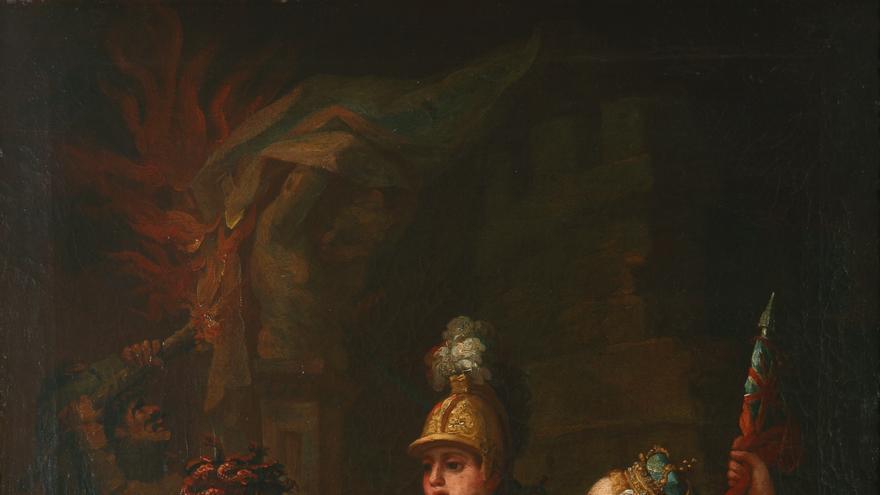 Anónimo, 'Unión de Inglaterra y España contra Napoleón', ca. 1814.