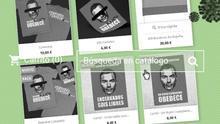 """La tienda de la campaña de 'Gobierno dimisión' vendía lonas para el balcón a 20 euros, camisetas a 10 euros o un """"paquete completo"""" con dos camisetas, 200 carteles y 300 banderines de España, """"ideal para que seas tú el que motive al barrio a salir a la calle"""", por 50 euros."""