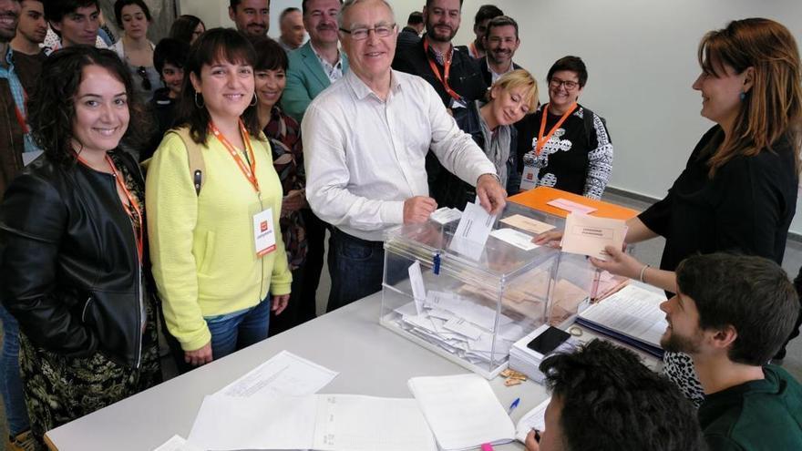 Ribó vota en Valencia