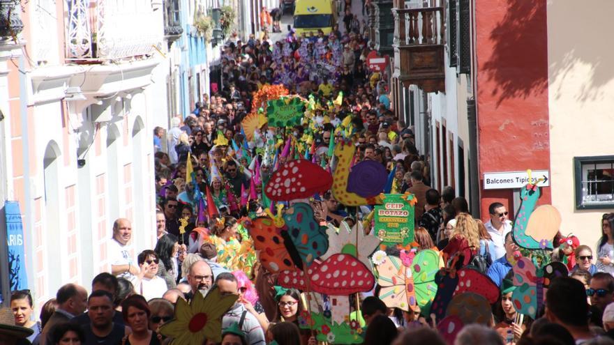 Imagen del Coso Escolar del Carnaval este sábado.