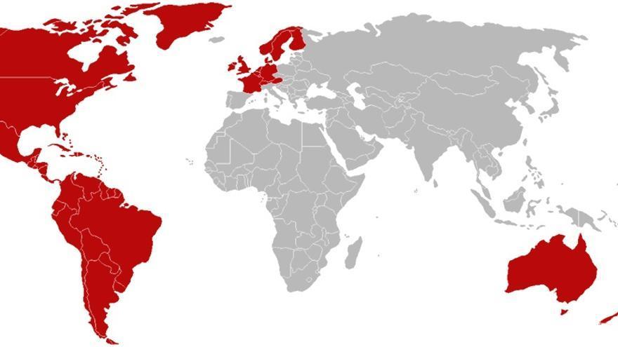 Países con Netflix a principios de 2015
