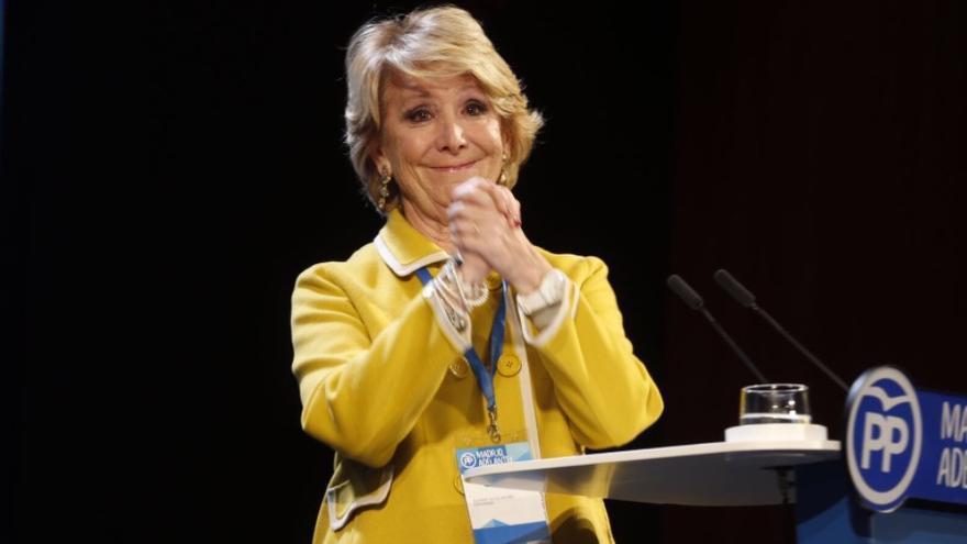 Esperanza Aguirre en el Congreso Autonómico de Madrid