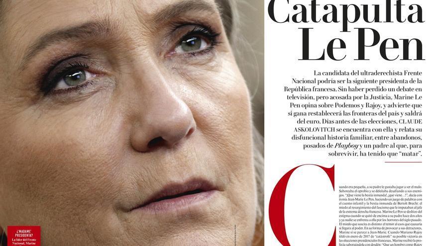 Le Pen dice que Podemos existe en España porque no hay un Frente Nacional y elogia sus críticas a la UE