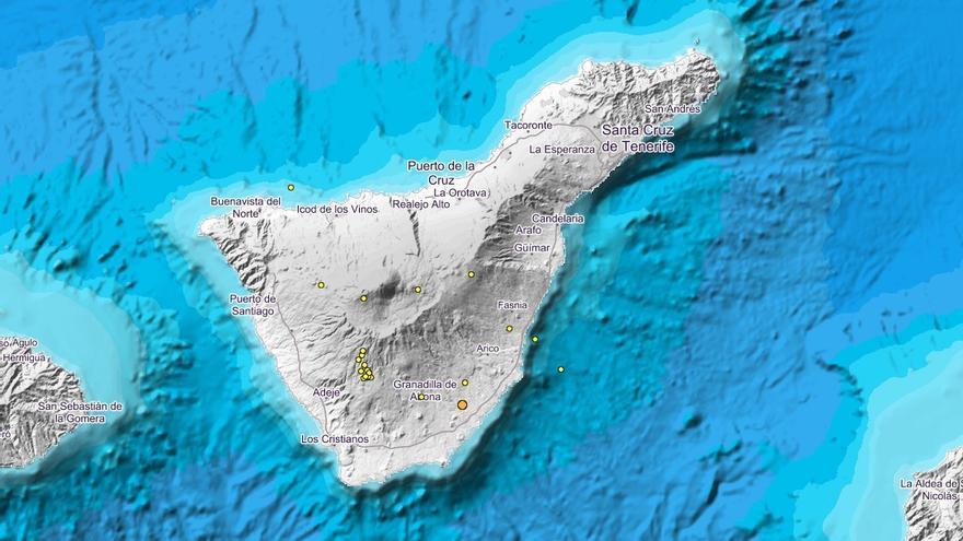 Terremotos registrados en Tenerife en las últimas 24 horas