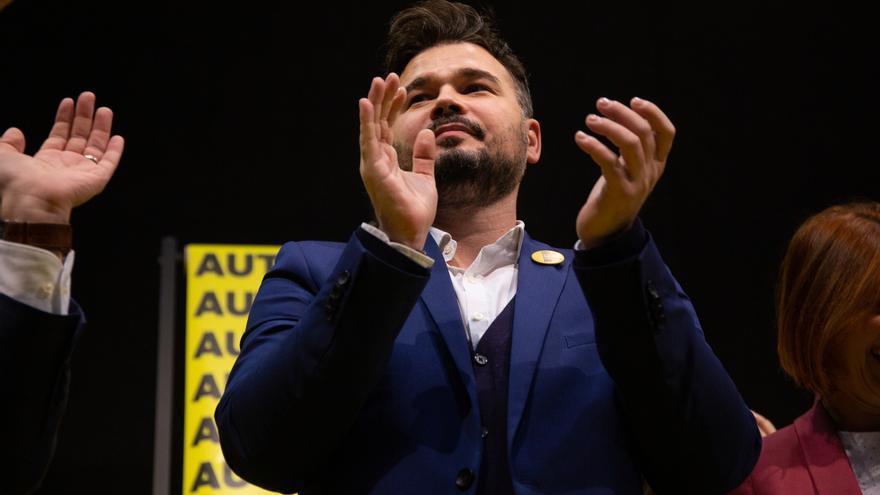 """Rufián traslada a Lastra que ERC seguirá en 'no' a Sánchez mientras el PSOE no deje la """"vía represiva"""" en Cataluña"""