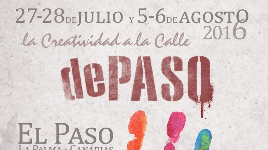 Cartel del festival creativo 'dePaso 2016'.