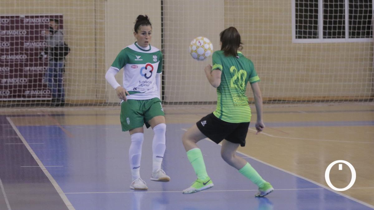 Rocío Gracia, en un partido del Deportivo Córdoba.