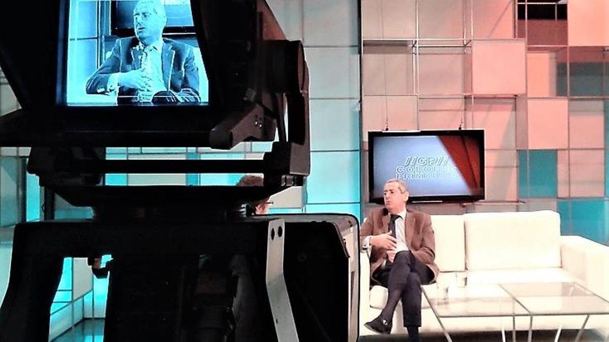 Jorge Landau durante un progama de TV