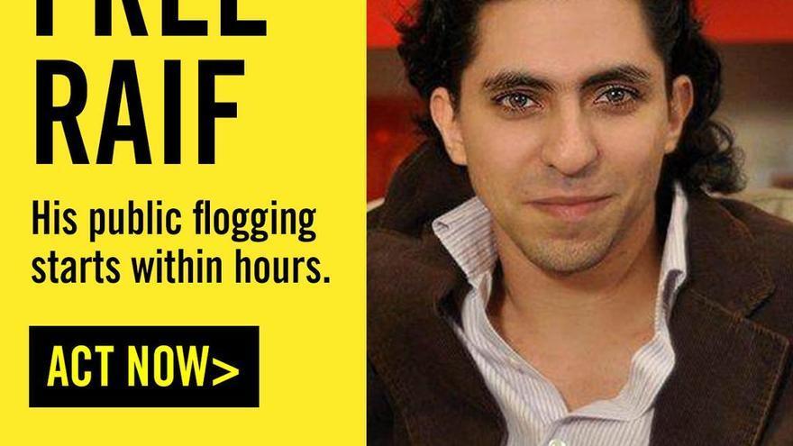 Campaña de AI a favor de Raif Badawi.
