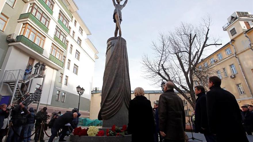 Inauguran en Moscú una escultura de Maya Plisétskaya, fallecida el año pasado