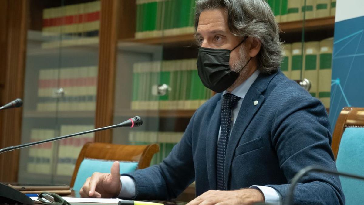 El presidente del Parlamento de Canarias y de la Conferencia de Asambleas Legislativas Regionales de la Unión Europea (CALRE), Gustavo Matos