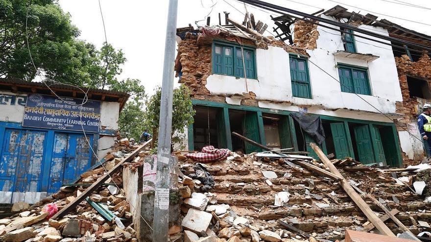 El reciente terremoto de Nepal, como se aprecia en la imagen, ha causado una gran devastación en el país asiático.