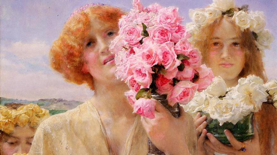 Lawrence Alma-Tadema. | 'Ofrenda de verano' (1911)