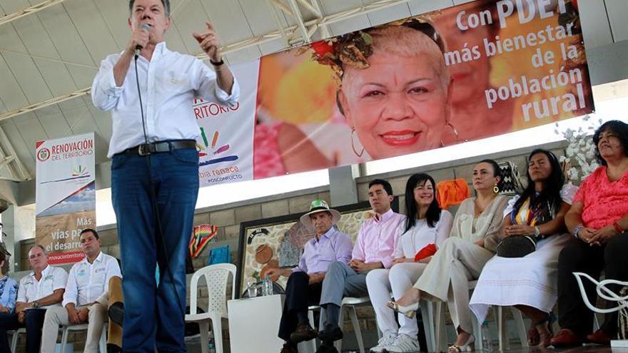 Santos asegura que el desarrollo territorial es la columna para construir la paz