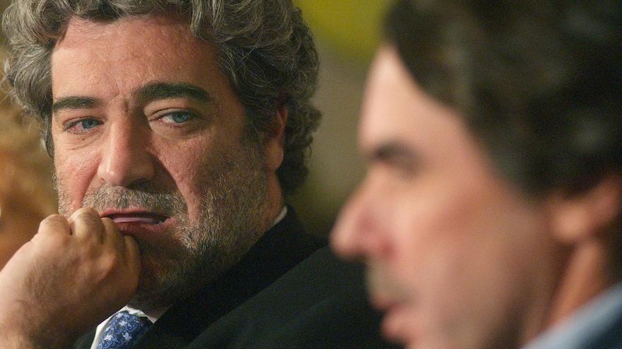 Miguel Angel Rodríguez y José María Aznar durante la presentación de un libro del exportavoz