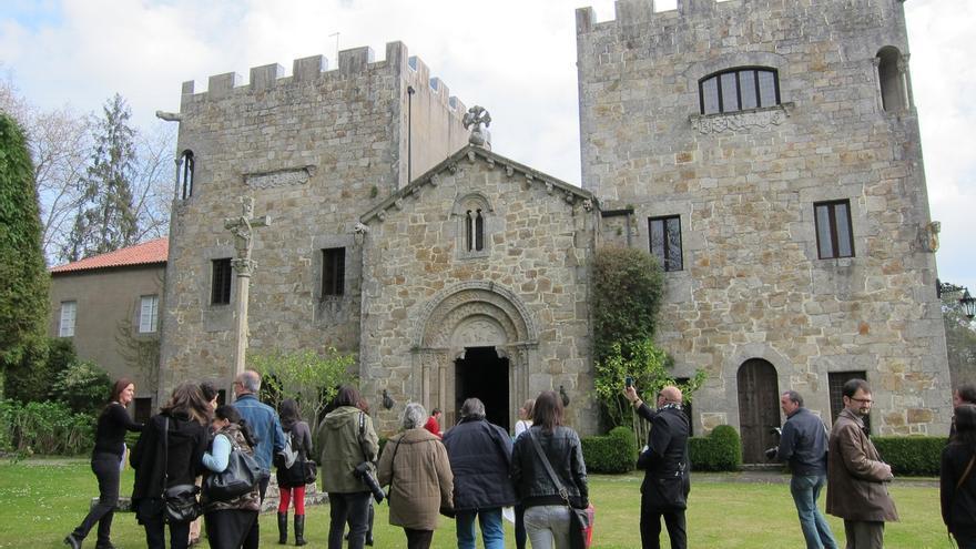 Una de las escasas visitas permitidas al Pazo y gestionadas por la Fundación Franco