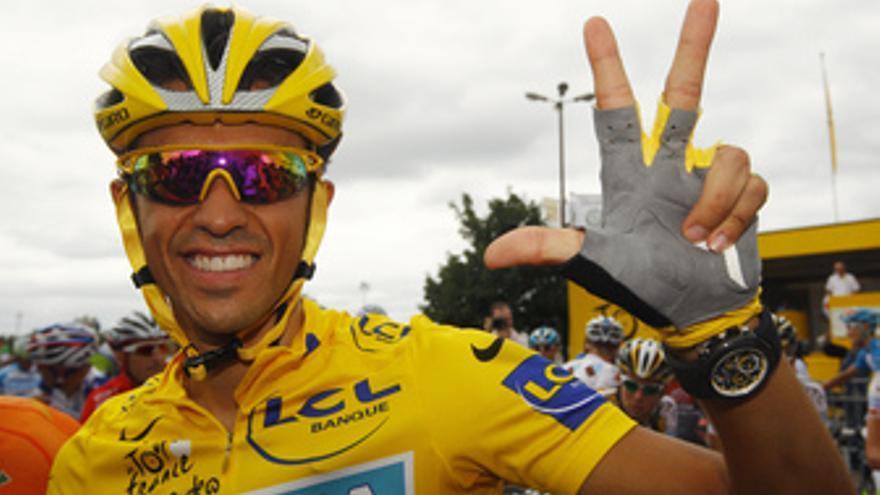 Alberto Contador gana su tercer tour