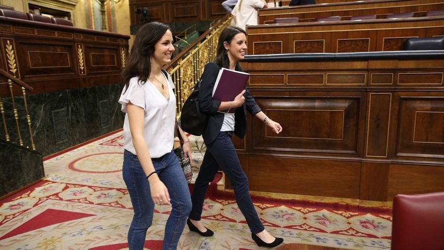"""Ione Belarra (Podemos) cree que la moción de censura de Arrimadas es """"un numerito"""" y supone """"echar más leña al fuego"""""""