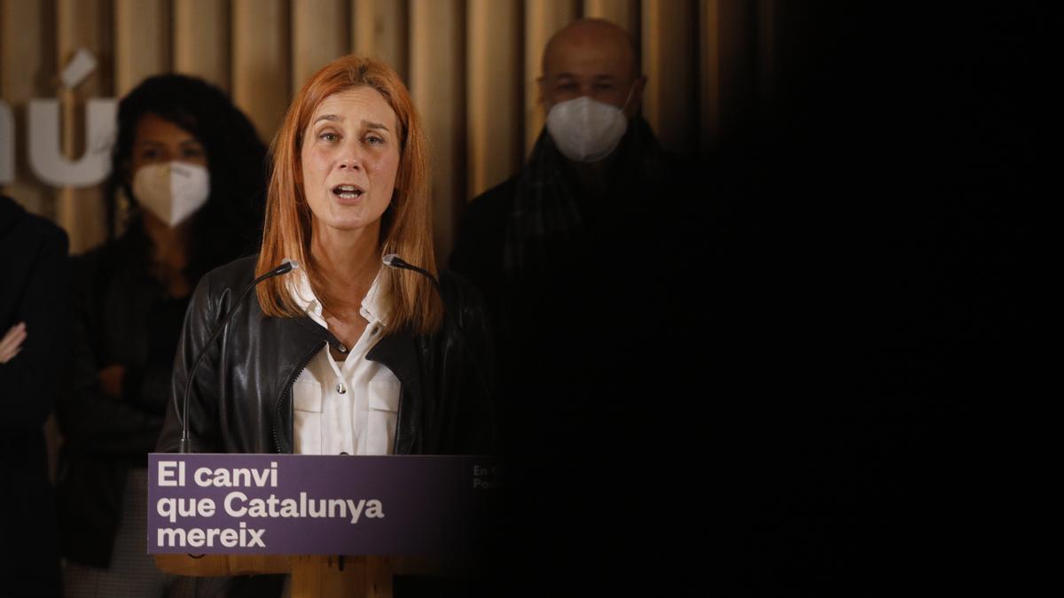 La candidata de los Comuns a la presidencia de la Generalitat, Jéssica Albiach.