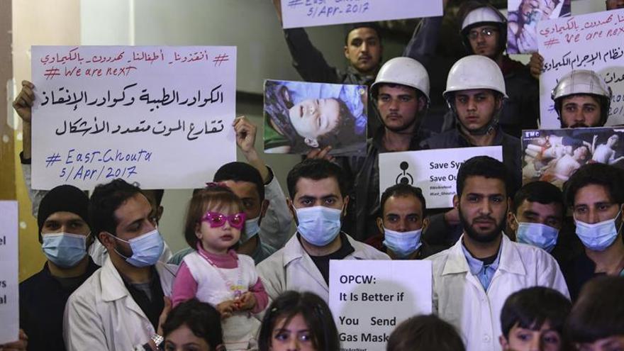 Los exámenes científicos para confirmar los ataques químicos en Siria se han realizado en laboratorios de la OPAQ e instalaciones de los gobiernos de EEUU, Francia y Reino Unido.