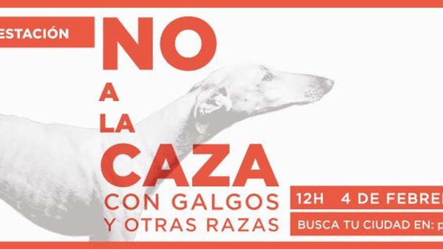 Cartel de convocatoria a la manifestación internacional 'No a la Caza', convocada por la Plataforma NAC.