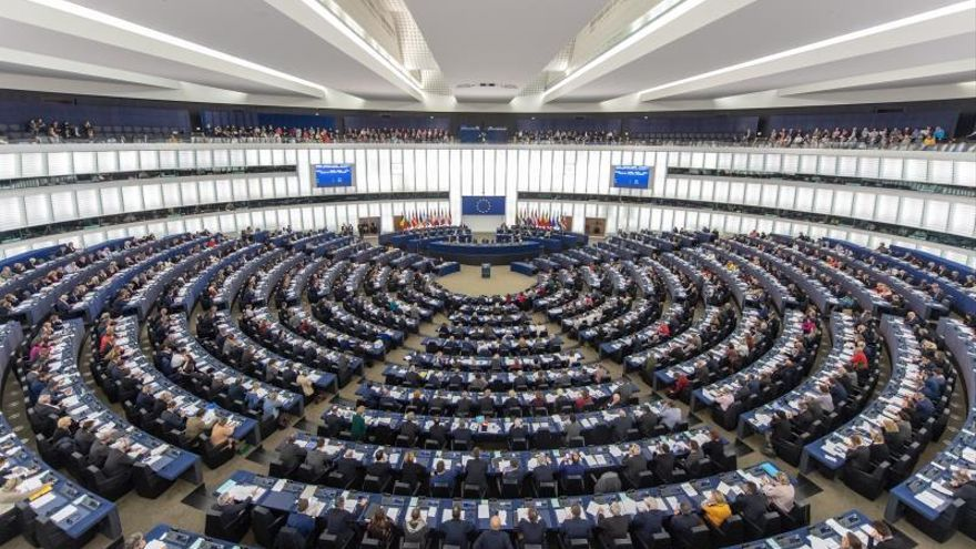 Una sesión en el Parlamento Europeo, en Estrasburgo, Francia.