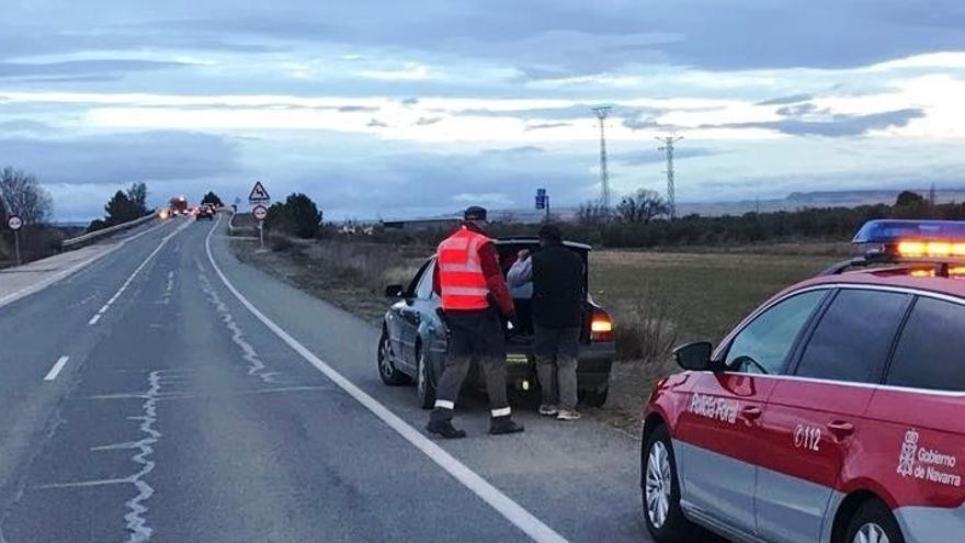 Un detenido y dos denunciados en el mismo control de tráfico en Tudela