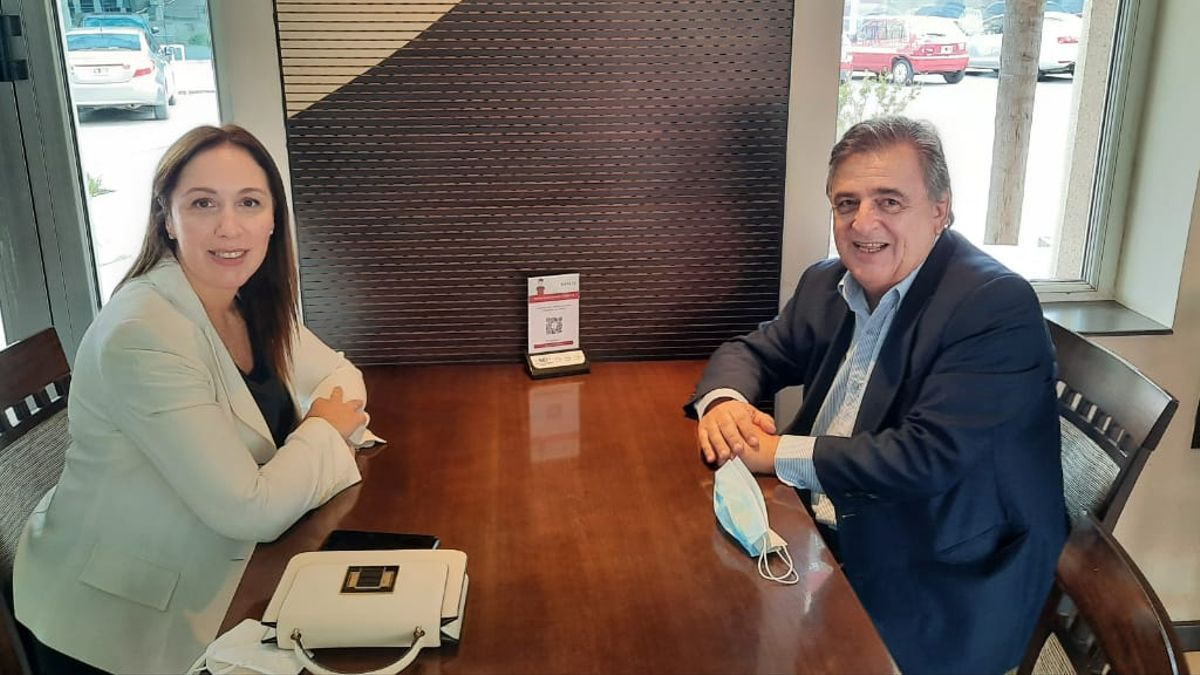 Vidal, durante su reciente gira cordobesa junto al diputado radical Mario Negri
