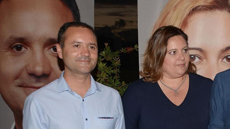 Los candidatos al Senado por CC en Gran Canaria, Gustavo Viera y Beatriz Calzada